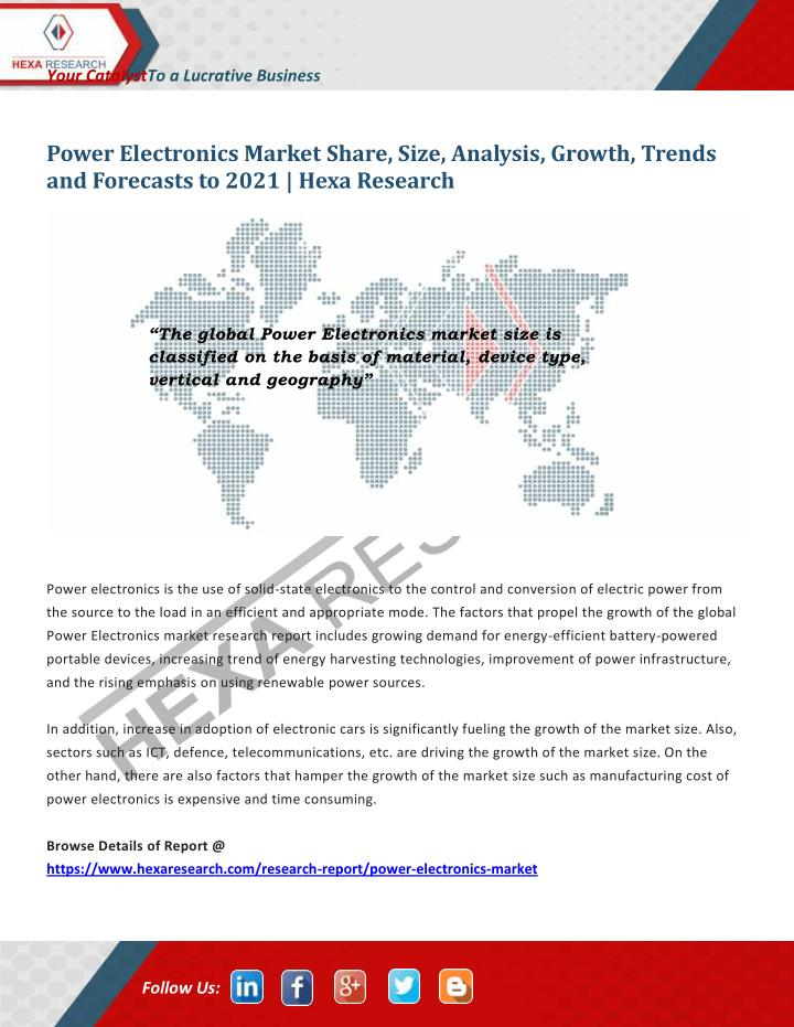 PPT - Global Power Electronics Market Size, Share | Industry Report