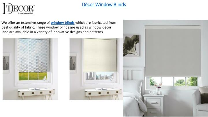 Décor Window Blinds