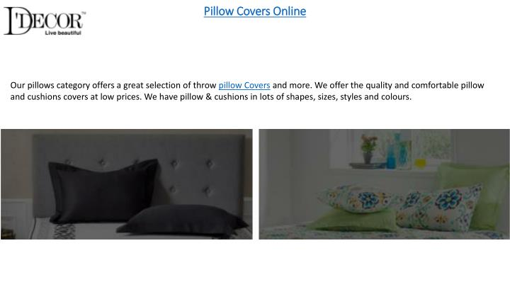 Pillow covers online