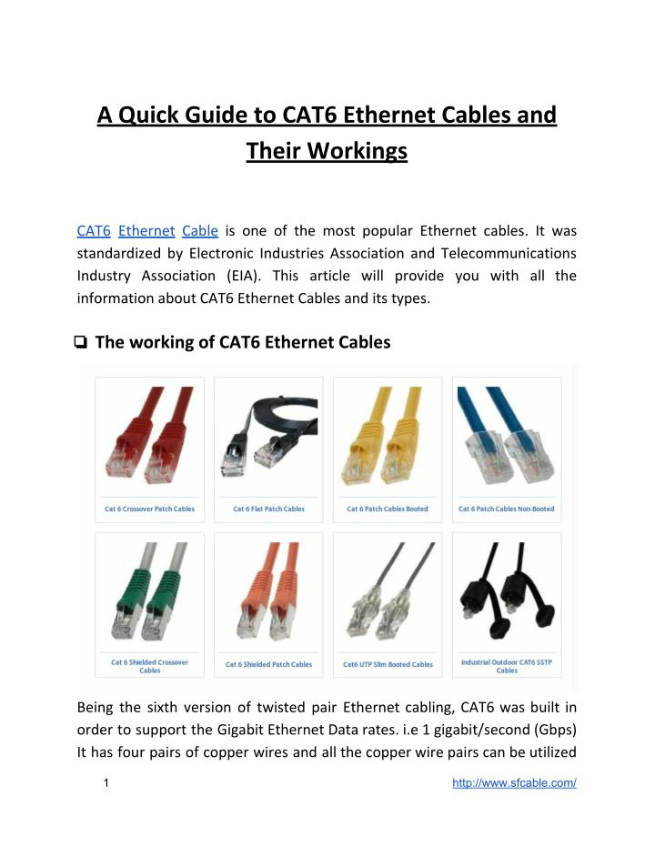 How To Choose Ethernet Cable Manual Guide