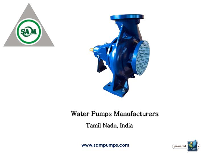 water pumps manufacturers n.