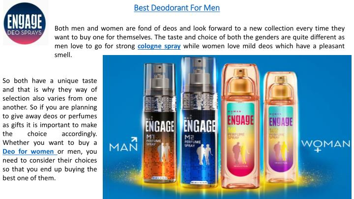Ppt Engage Deo For Men And Women Powerpoint Presentation Id 7584942