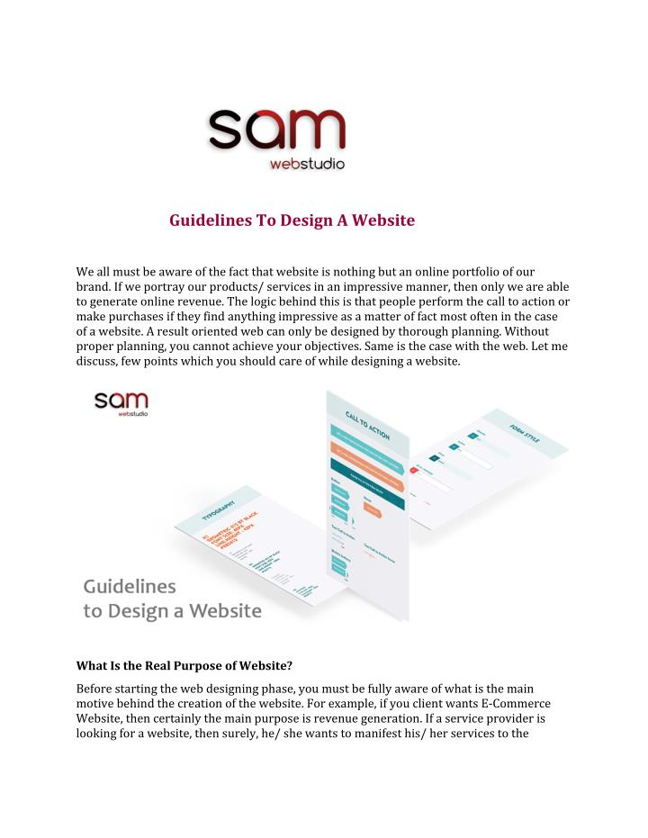 guidelines to design a website n.