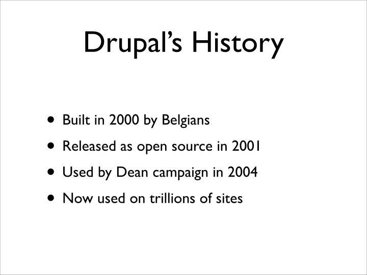 Drupal s history
