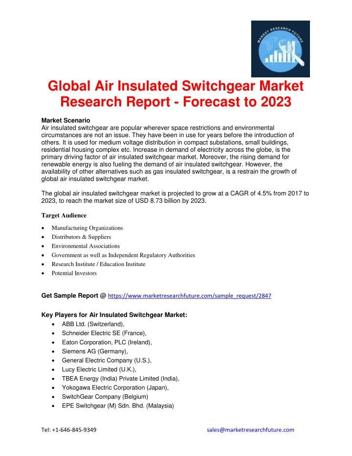PPT - Global Air Insulated Switchgear Market Research Report