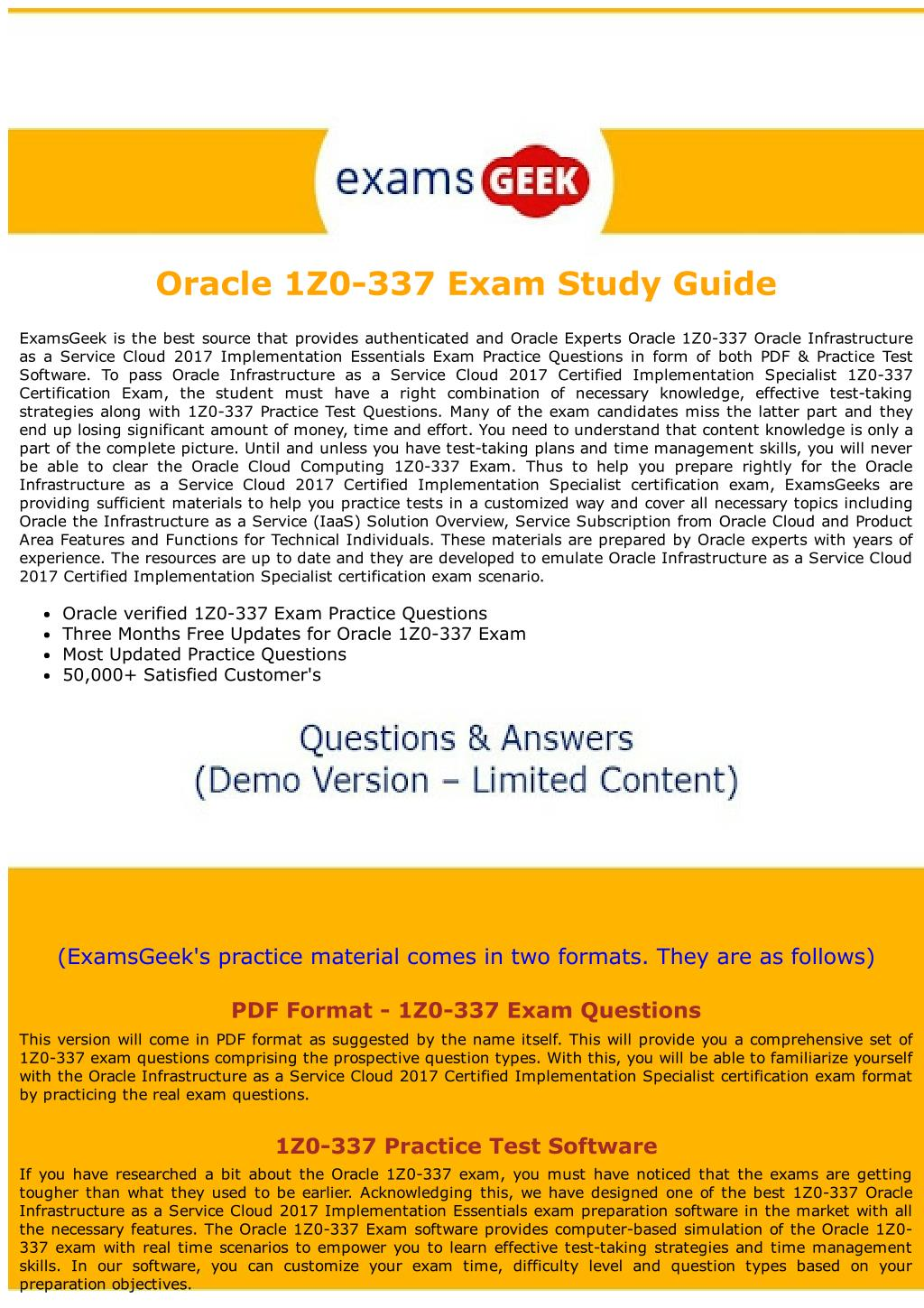 Ppt 1z0 337 Oracle Cloud Computing Exam Dumps Powerpoint