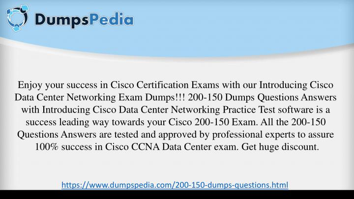 PPT - CCNA Data Center 200-150 Exam Braindumps Updated Exam ...