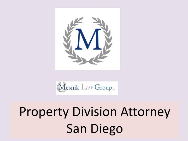 property division attorney san diego n.