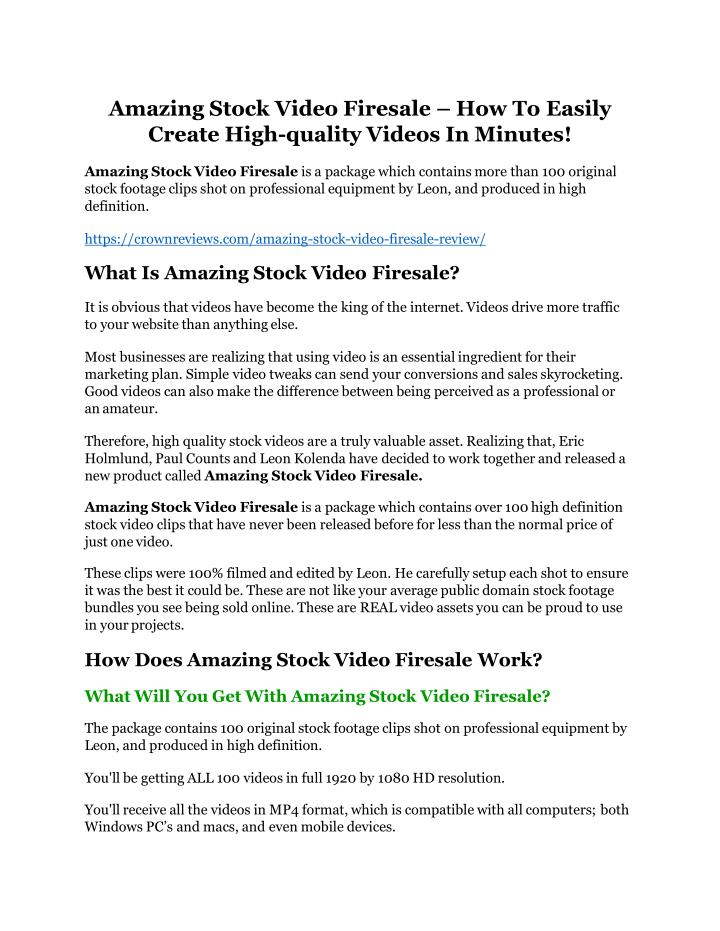 amazing stock video firesale how to easily create n.