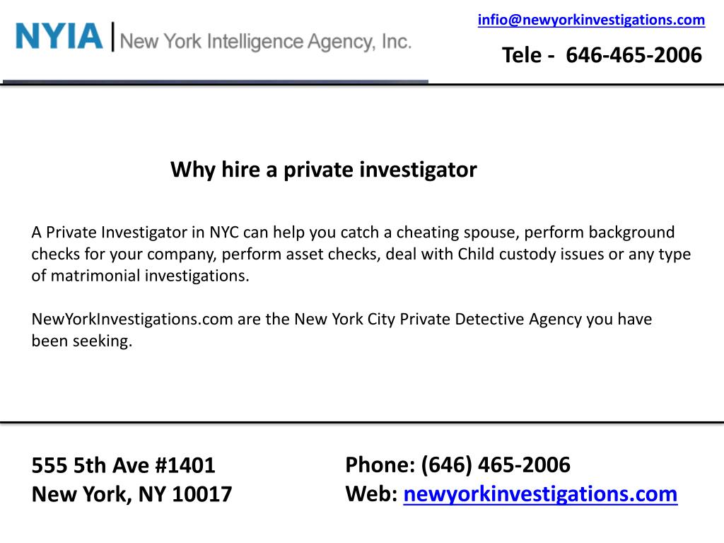 PPT - Best private investigator nyc PowerPoint Presentation