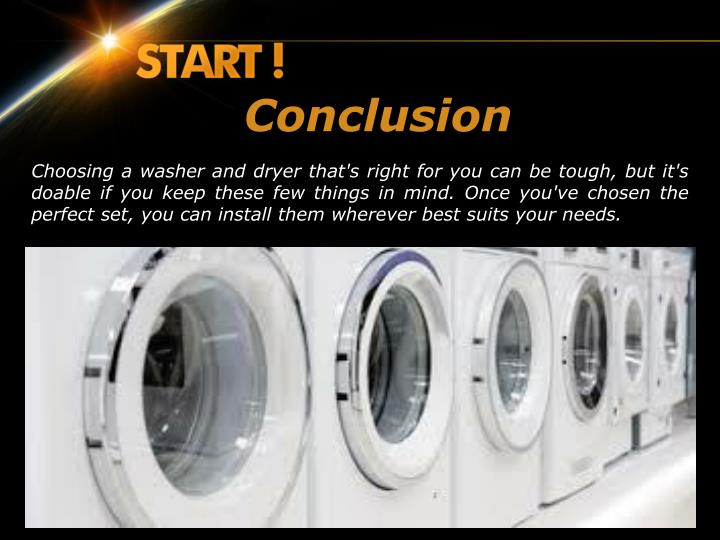 how to choose a washer and dryer