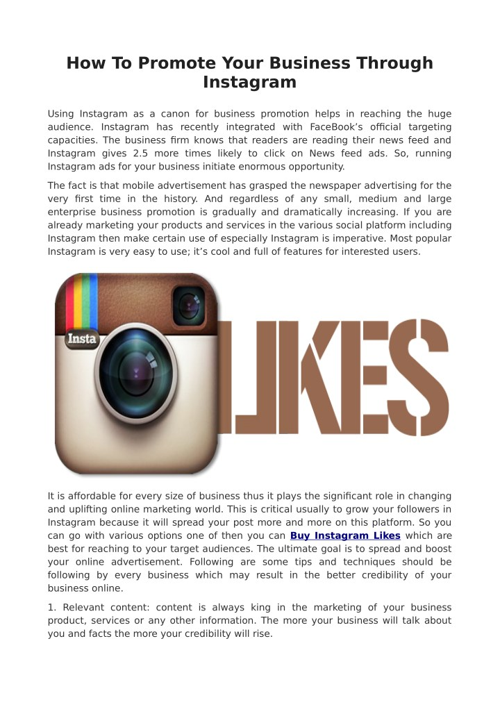 how to promote your business through instagram n.