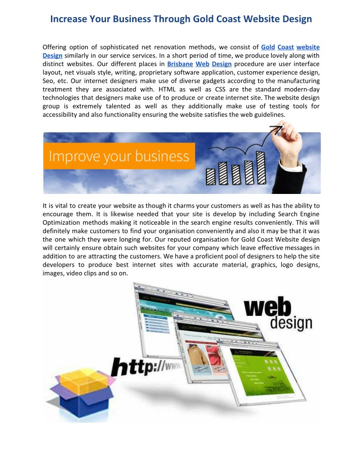 increase your business through gold coast website n.