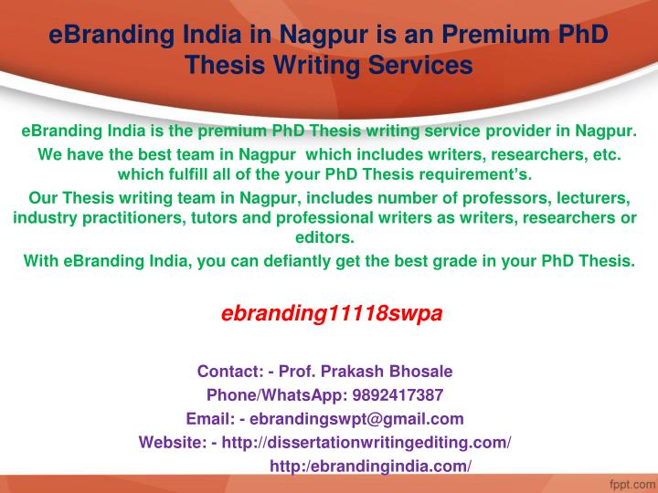 phd thesis help india