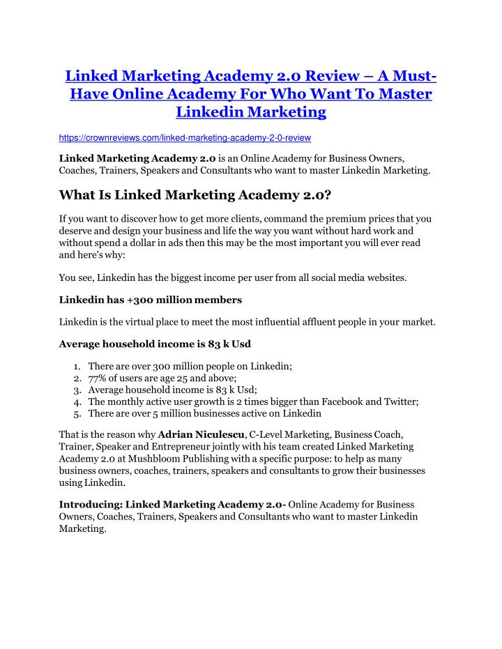 linked marketing academy 2 0 review a must have n.