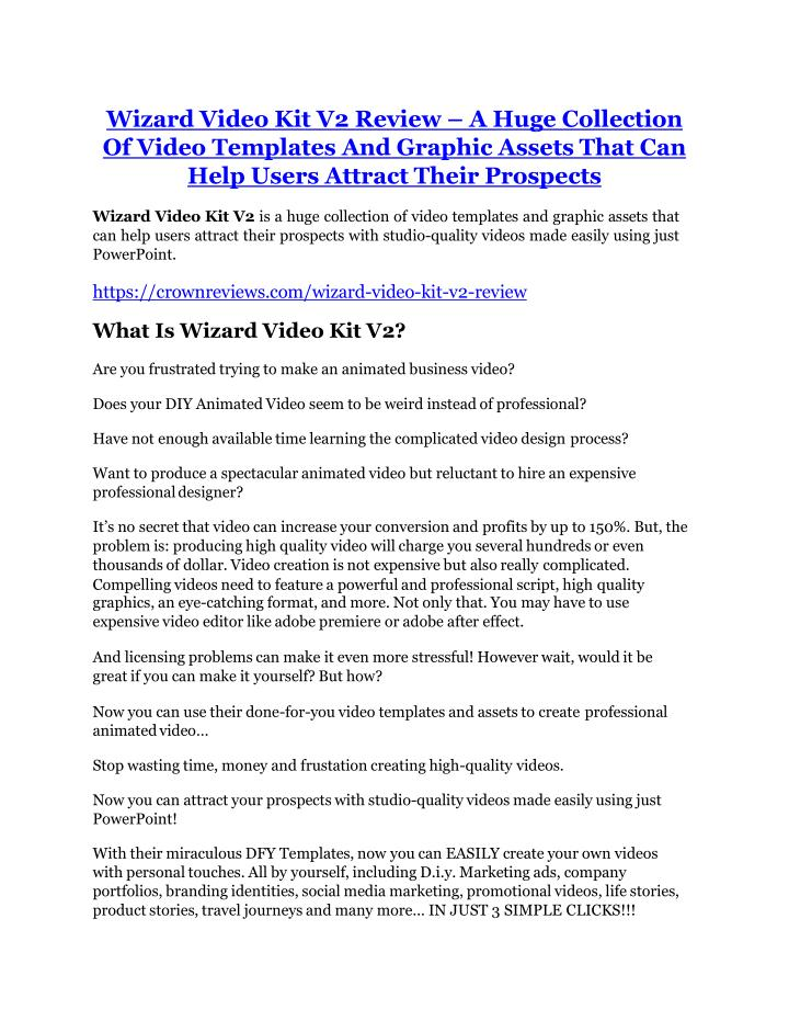 wizard video kit v2 review a huge collection n.