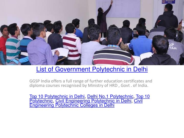 PPT - List of Government Polytechnic in Delhi PowerPoint