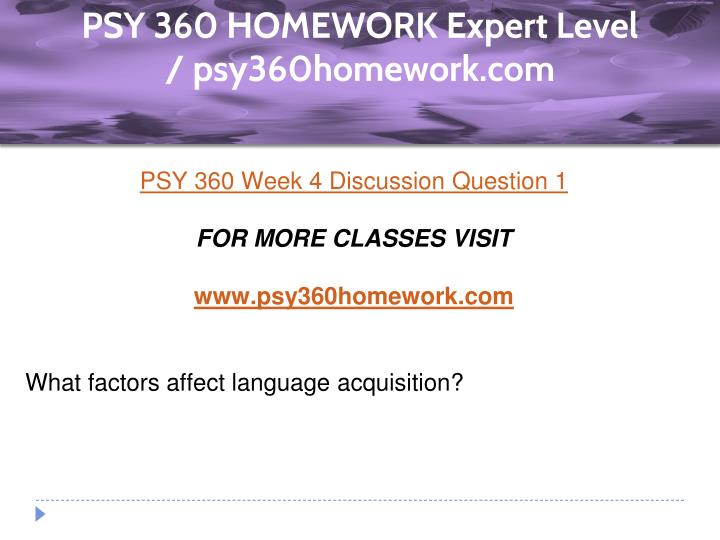 psy 360 week 5 language paper
