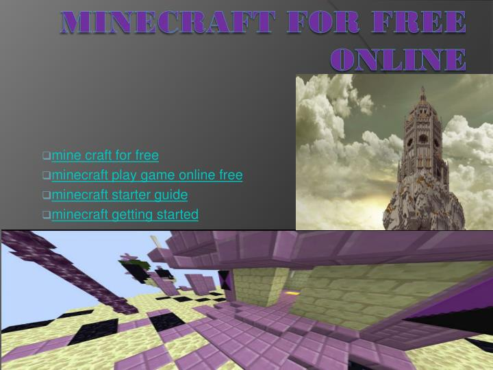 Ppt Play Minecraft Game Online Powerpoint Presentation Free Download Id 7592004