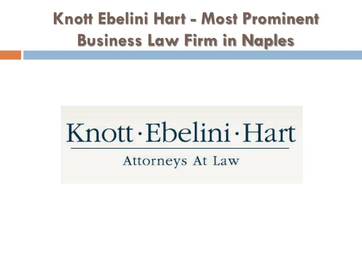 knott ebelini hart most prominent business law firm in naples n.