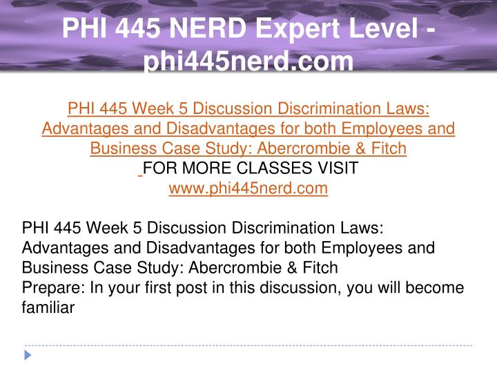phi445 week 1 discussion 1