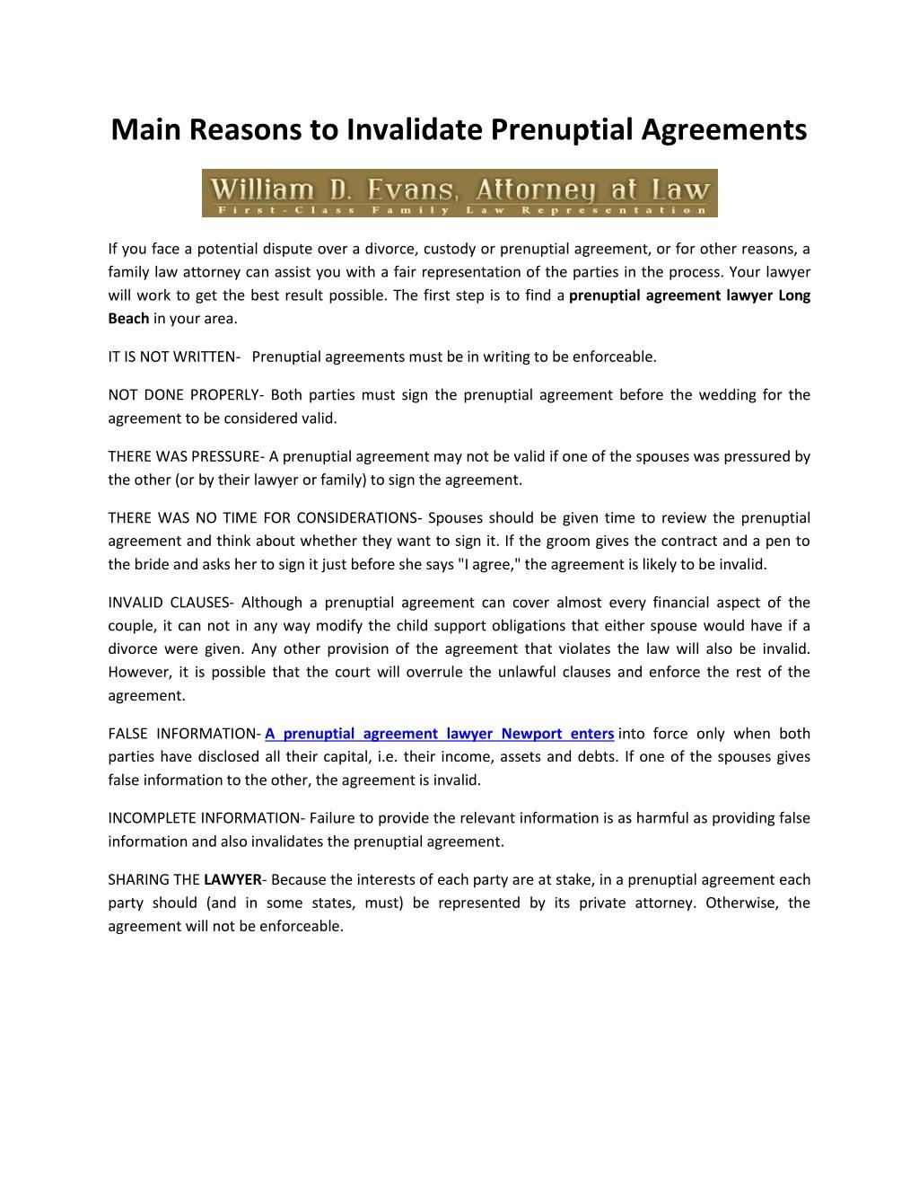 How to Modify a Prenuptial Agreement