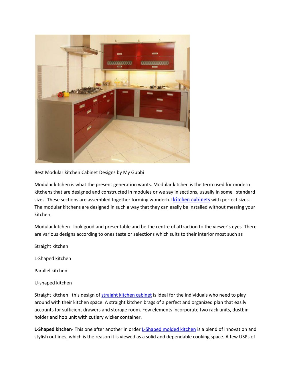 Ppt Best Modular Kitchen Cabinet Designs By My Gubbi Powerpoint Presentation Id 7594348