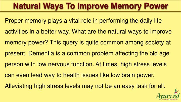 ways to increase memory power