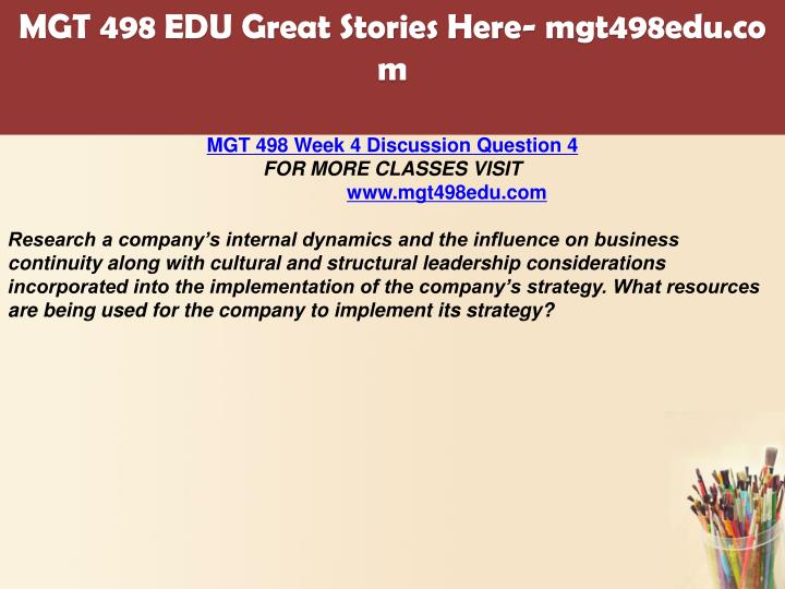 mgt 498 powerpoint sustainability strategies