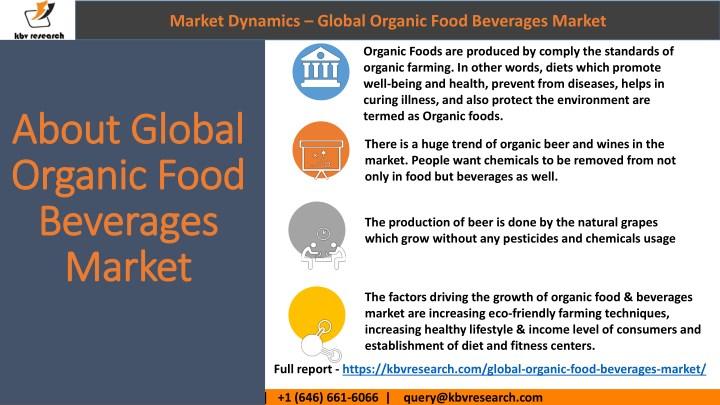 global organic food beverages market