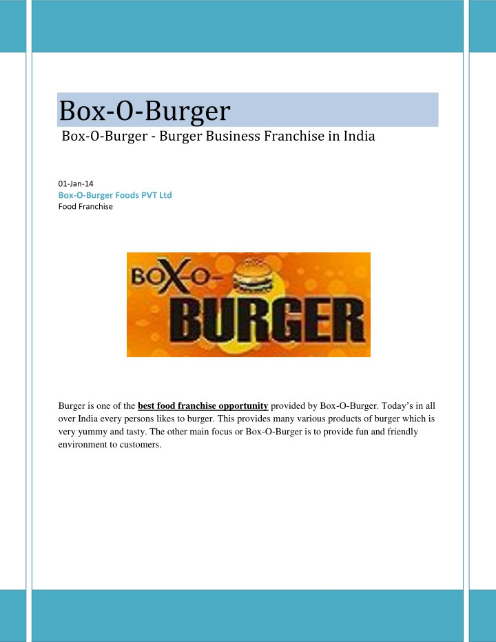 Franchising introduction.