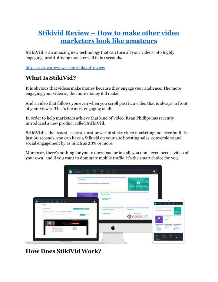 stikivid review how to make other video marketers n.