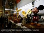 a mickey mouse figure and other items