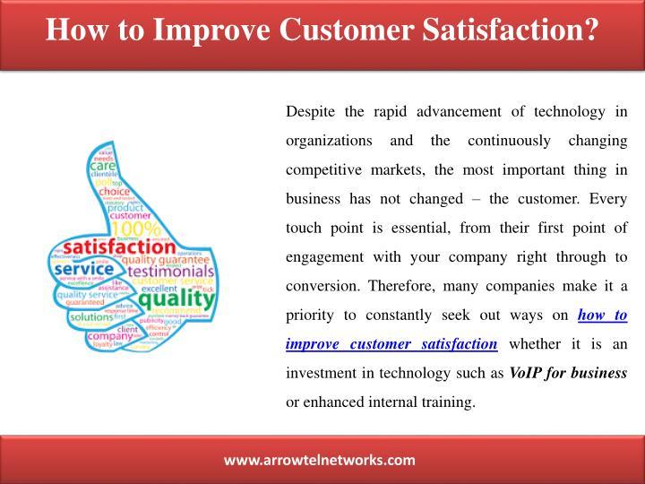 customer satisfaction how to achieve customer satisfaction