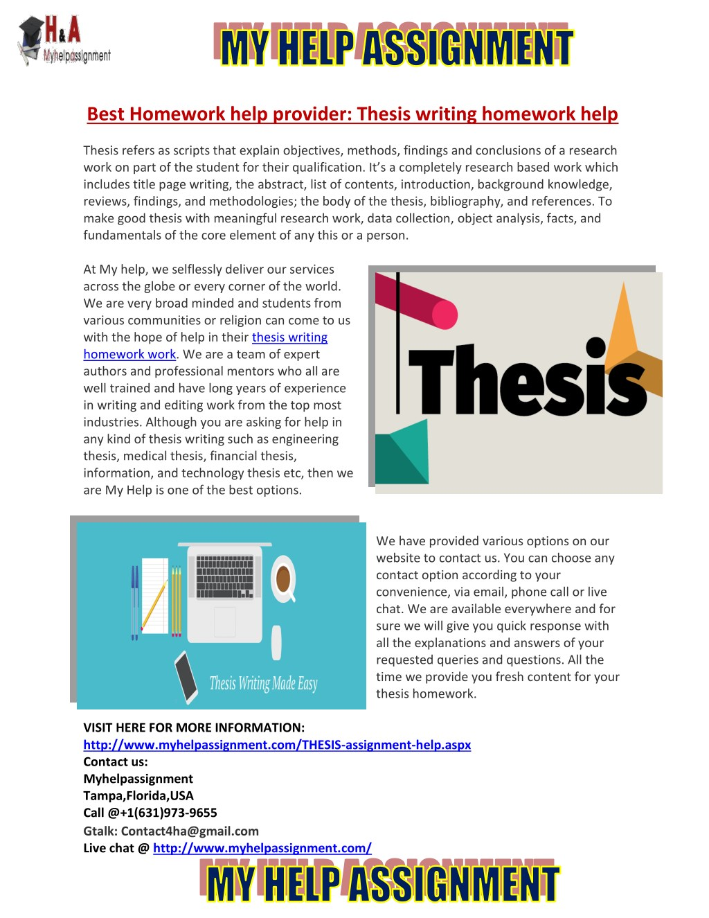 thesis writing made easy