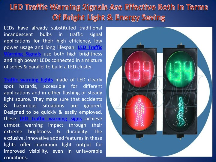 Even With Warning Signs These Traffic >> Ppt Led Traffic Warning Signals Are Effective Both In Terms Of
