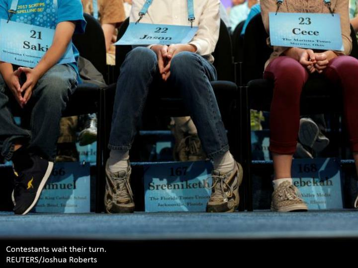 Contestants wait their turn.  REUTERS/Joshua Roberts