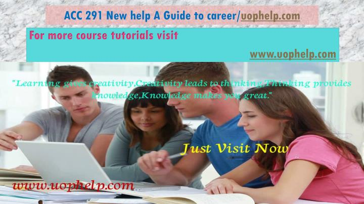 acc 291 new help a guide to career uophelp com n.