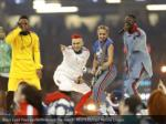 black eyed peas perform before the match reuters