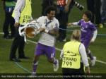real madrid s marcelo celebrates with his family