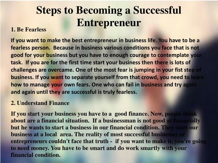 how to become a successful entrepreneur ppt