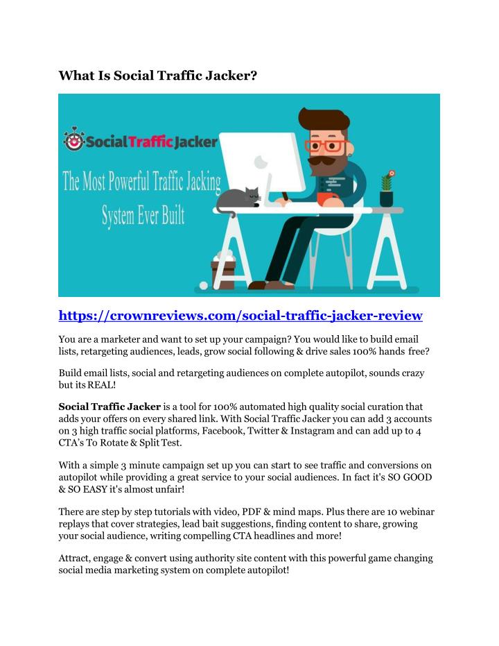 PPT - Social Traffic Jacker review and giant bonus with 100