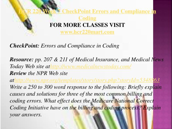 errors and compliance coding Causes of coding errors oig compliance guidelines fast facts audio seminar – performing a chart audit.