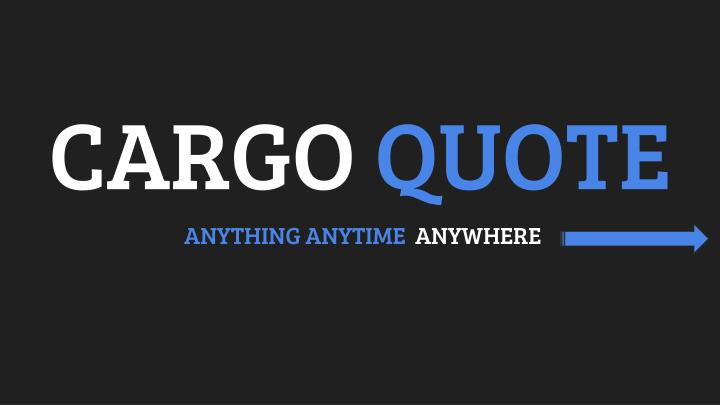 cargo quote n.