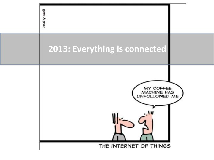 2013:  Everything  is  connected