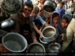 people receive food donations in jalalabad