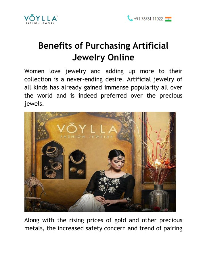 benefits of purchasing artificial jewelry online n.