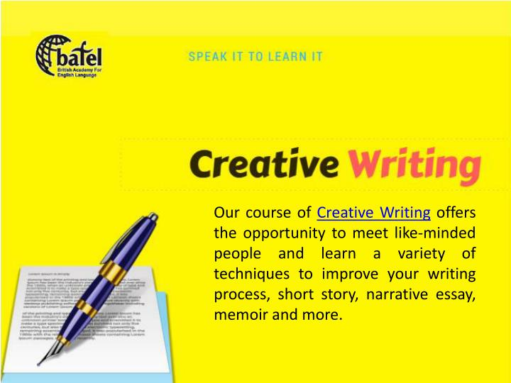 creative writing narrative