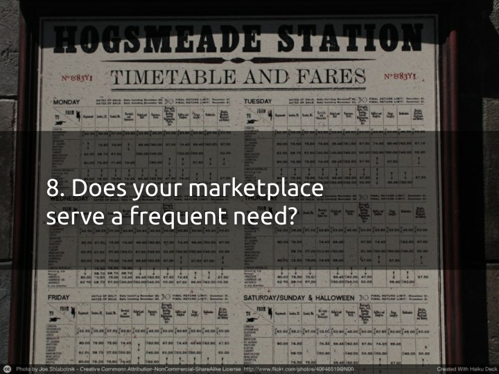8. Does your marketplace