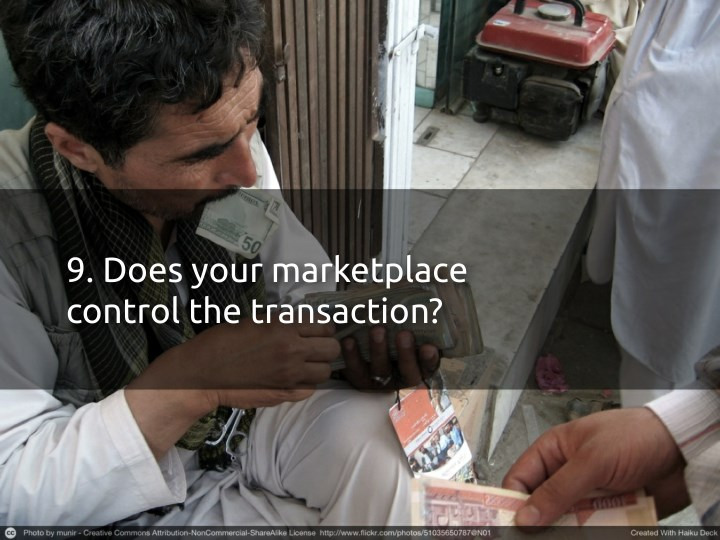 9. Does your marketplace